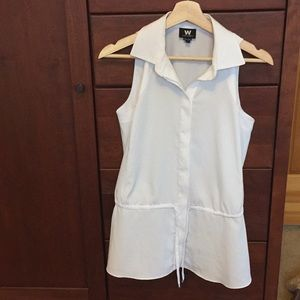 W by Worth sleeveless blouse, worn once